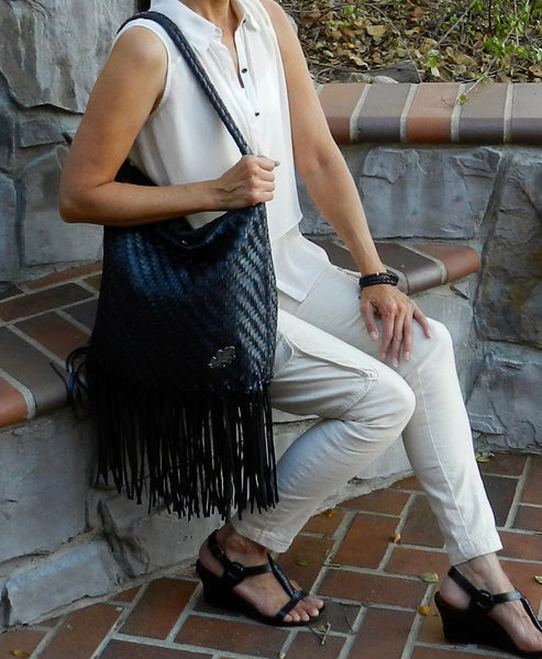 Bag - Large Bucket With Removable Fringe