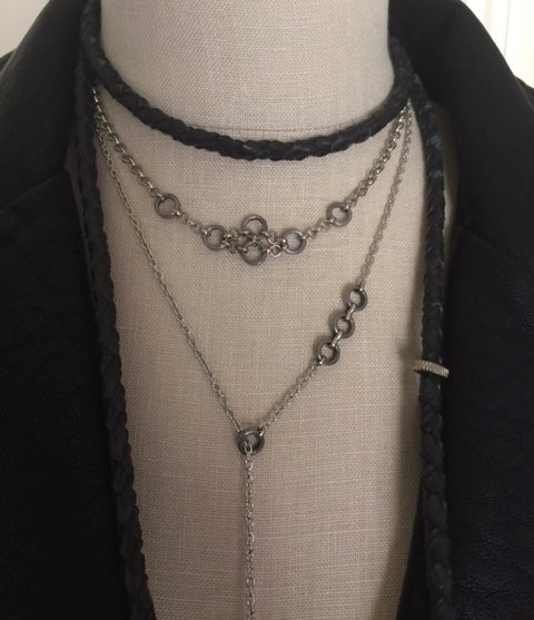 Necklace - Chain Lariat (Bottom necklace as shown)