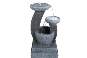 3 Tier Bowls Solar Fountain