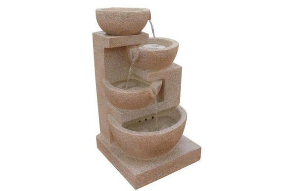 4 Tier Cascading Bowls Solar Fountain