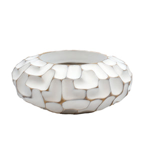 White Jigsaw Pot