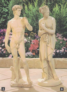 DAVID AND PAOLINA STATUE