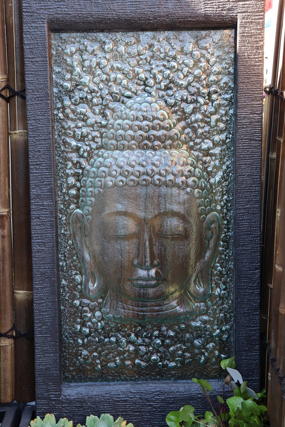 Half Buddha Glass Wall Fountain