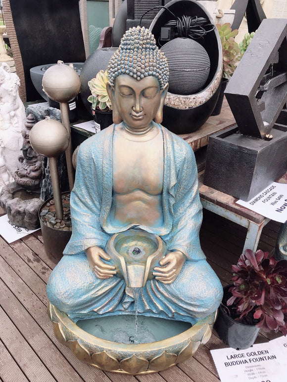 Gold Buddha Fountain - Large