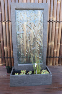 Bamboo Glass Wall Fountain