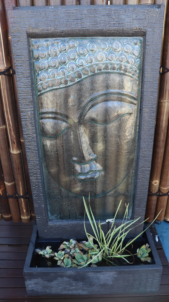 Buddha Face Glass Wall Fountain
