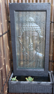 Buddha Head Glass Wall Fountain