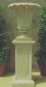 TULLIP URN AND SPENCER PEDESTAL