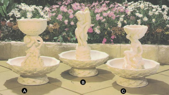 Statues in Fountain Bowl (Various Statues)