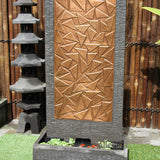 Abstract Copper Wall Fountain