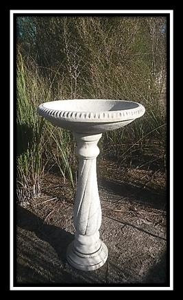 Tall Spiral Bird Bath