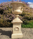 Cast Iron Dorchester Urn & Pedestal