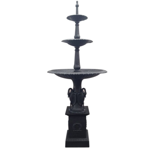 Three Tier Heron Fountain on Dorchester Base