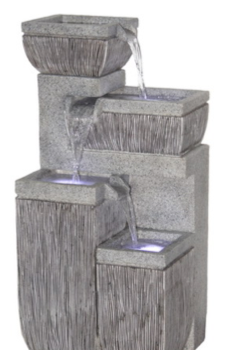 Large Polyresin Four Step Fountain