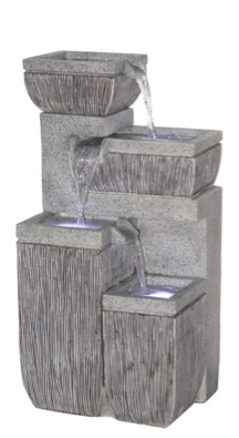 Polyresin Four Step Fountain
