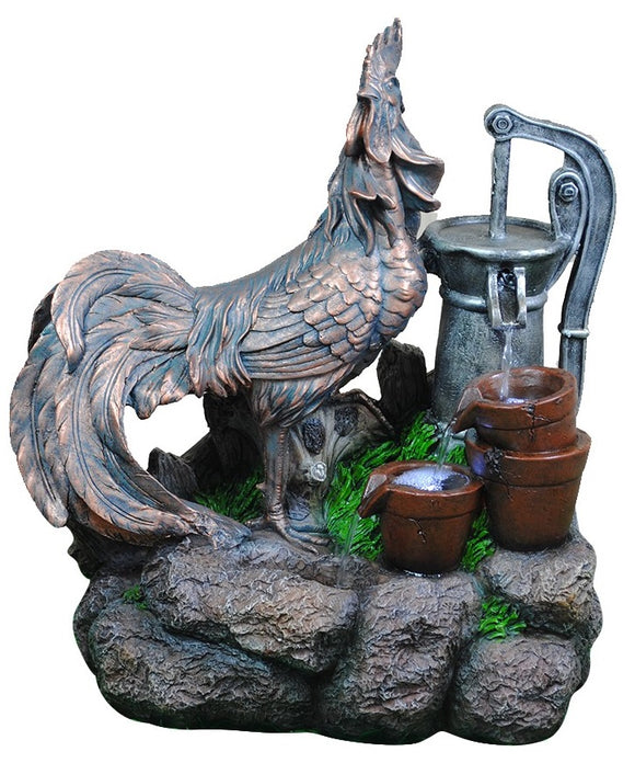 Rooster Fountain