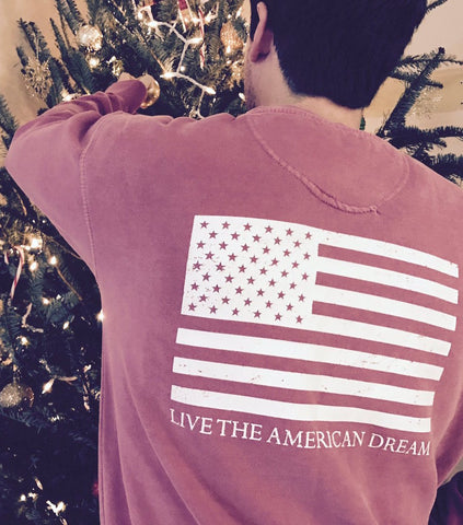 'Live the American Dream' Men's sweatshirts