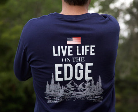 Live Life on the Edge Long Sleeve Tee