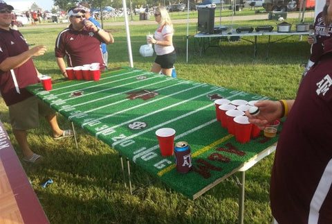 beerpong tailgate brown out