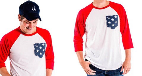 Men's Patriotic Baseball Tee & United Hat