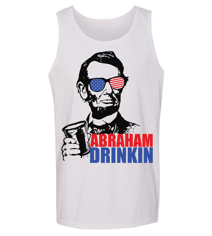 7a7a69bf750d2 4th of July Abraham Drinkin Summer Tank top mens ...