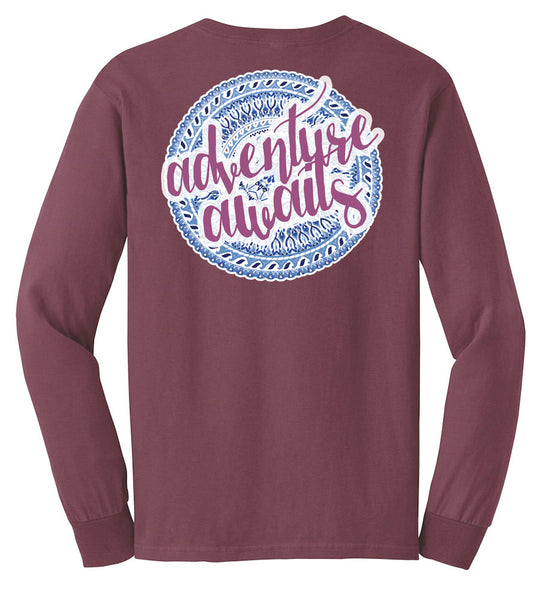 'Adventure Awaits' Long Sleeve Tee