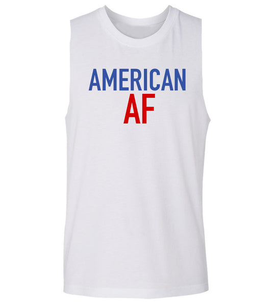'American AF' 4th of july ladies muscle tank