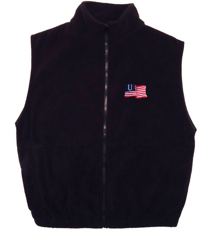 Black American Flag Mens Vest
