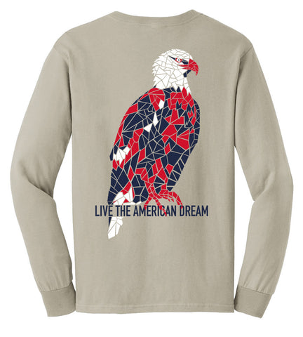 American Bald Eagle Patriotic & Preppy Long Sleeve Tee