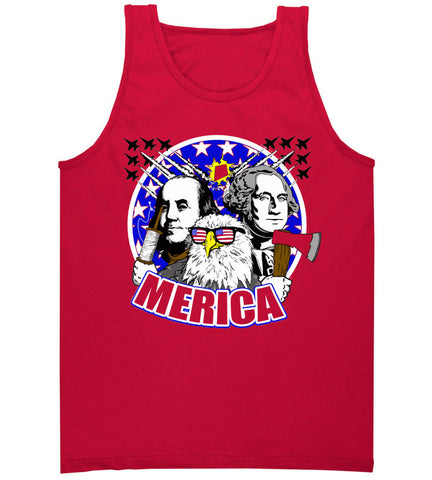 Red America Tank Top