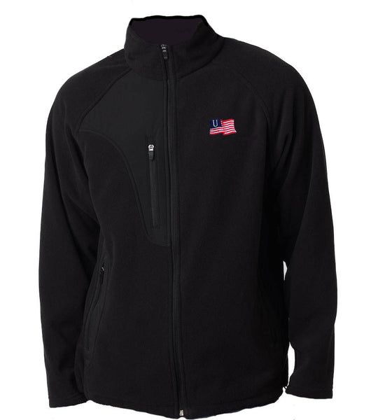 American Flag Embroidered Winter Jacket