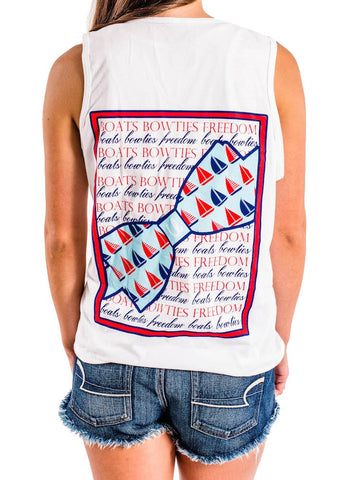 'Boats, Bow Ties & Freedom' Tank Top- 2nd Edition