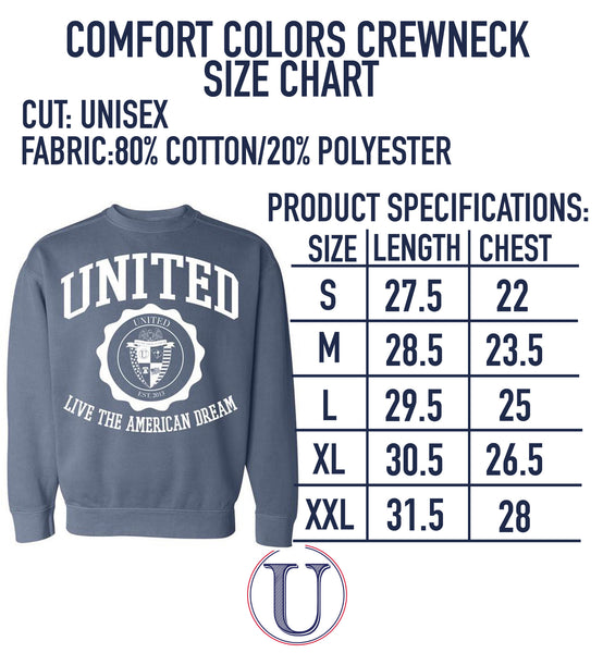 'United Crest' Comfort Colors Sweatshirt