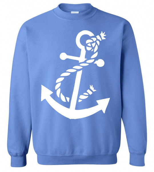 Anchor Sweatshirt- Preppy- Carolina Blue