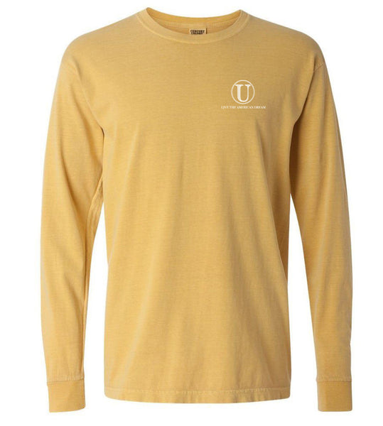 United Tees Logo Long Sleeve Fall Gold