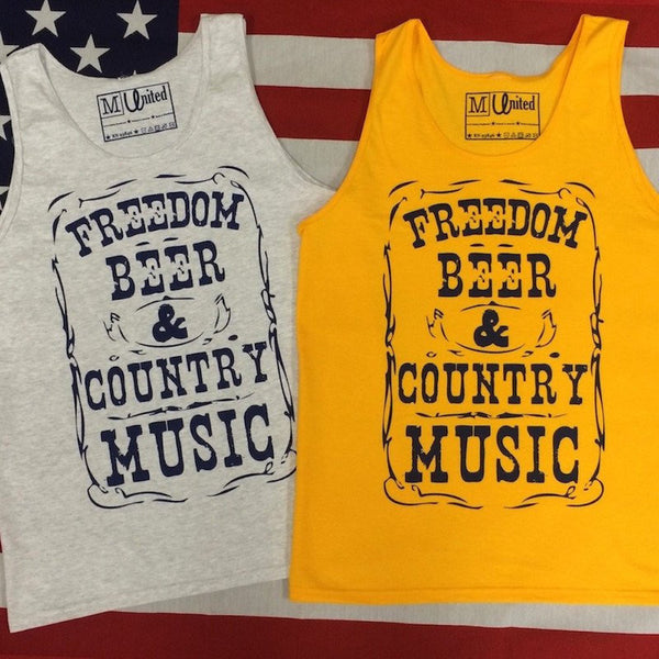 Country Music American Flag Tank Top