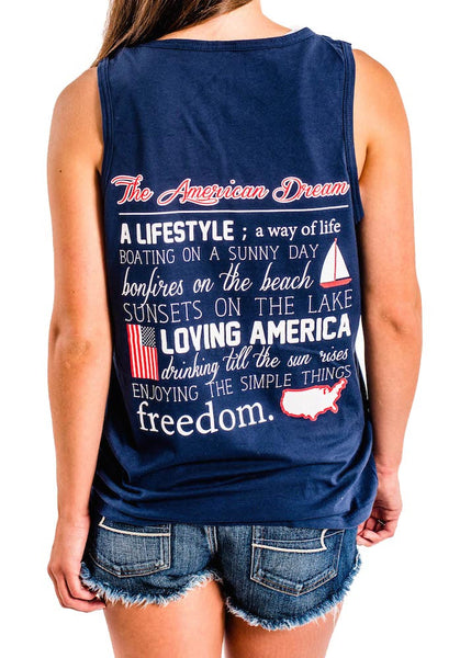 The American Dream is within all of us- Patriotic Tank Top