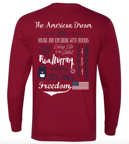American Dream Adventure Definition Long Sleeve