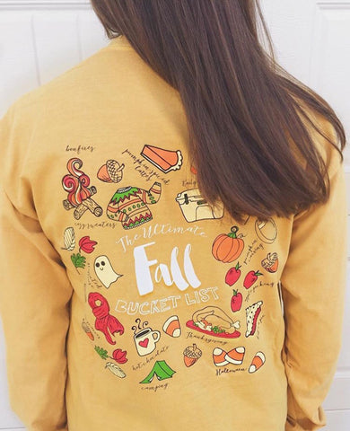 Preppy 'Fall Bucket List' Tee