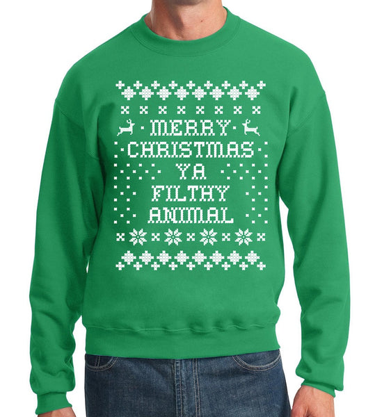 Green Holiday Sweater- Home Alone Holiday Sweatshirt