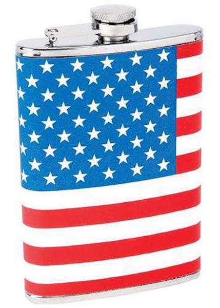 American Flag Drinking Flask