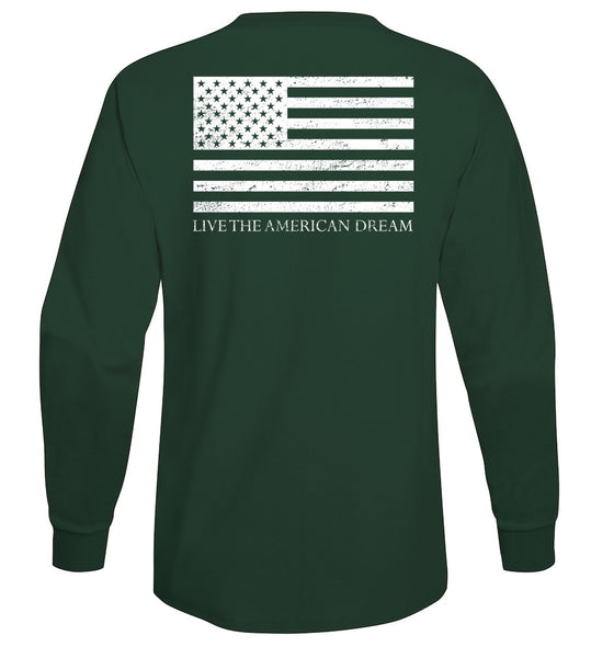United Long Sleeve Tee American Flag