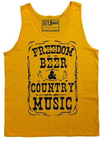 Country Music  & Beer Tank Top