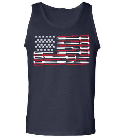 Grill Hamburgers- 4th of July Tank TOp