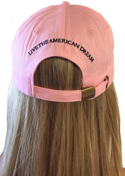 'Live the American Dream' pink & preppy Hat