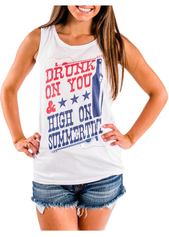 Luke Bryan- Drunk on You, High on Summertime Tank Top