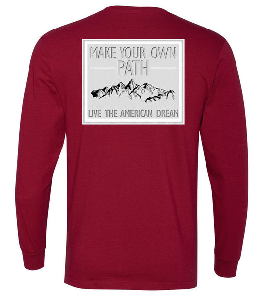 Live the American Dream on the Mountians- United Long Sleeve Tee