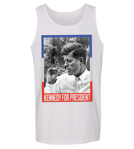 John F Kennedy Smokin- 4th of July Tank top