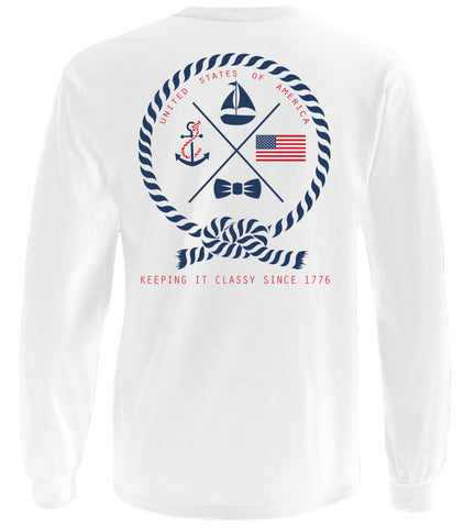 Keeping it classy since 1776 long t-shirt