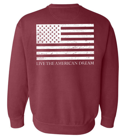 United 'Live the american dream' red sweatshirt- united tees